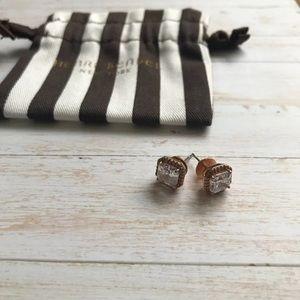 Henri Bendel Rose Gold Stud Earrings